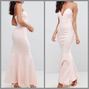 !FLASH SALE! NWT pink formal fishtail dress lace